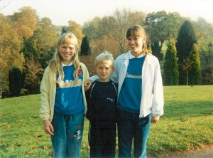 November 1989 - Oldbury Court, Bristol.  Aged 12, 11 and 8
